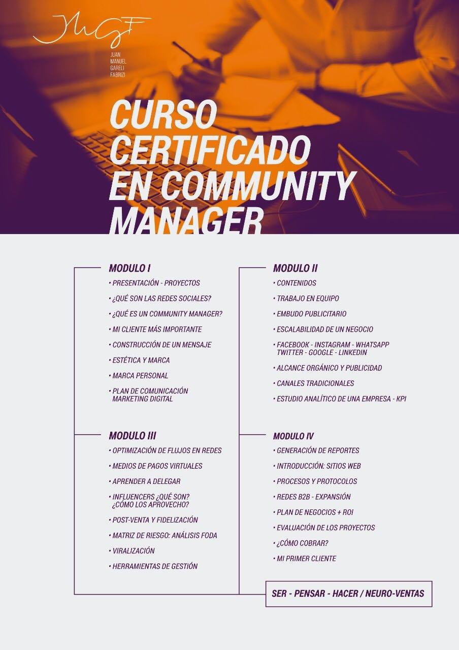 Programa Curso Certificado en Community Manager