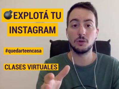 Explota tu cuenta de Instagram - Clases Virtuales Para estudiar en tiempos de cuarentena!